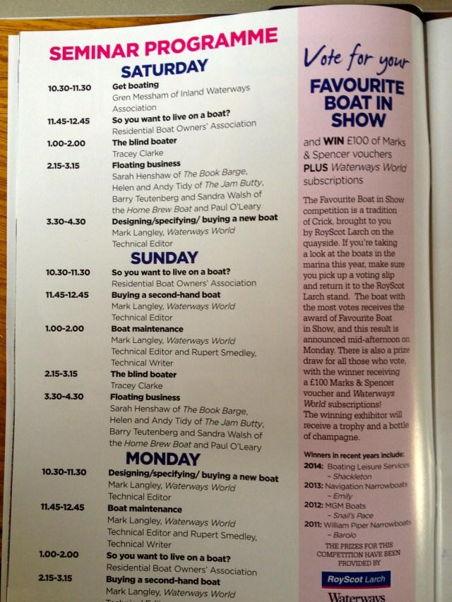 Crick Boat Show programme