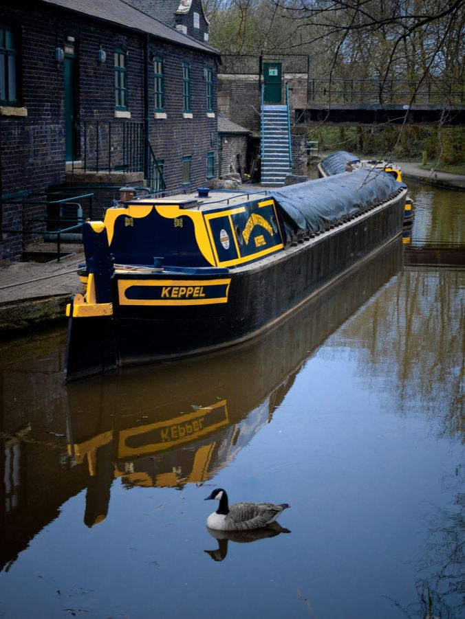 British Waterways butty Keppel, moored at the Bone and Flint Mill at Etruria