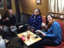 Helen and Gav on board