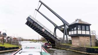 A few lift bridges to negotiate and stop the traffic