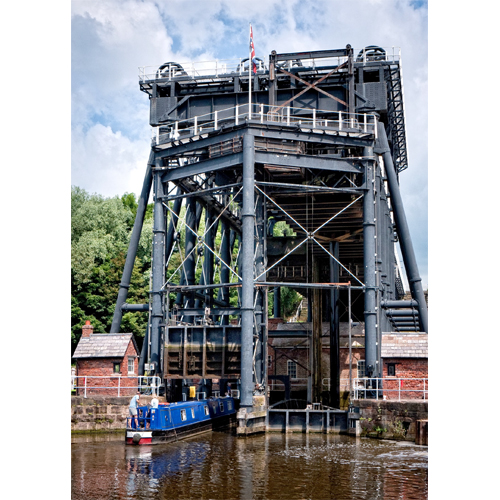 The Anderton Boat Lift from the River Weaver
