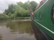 Micheala and Gareth seeming delighted to be back on board a narrowboat