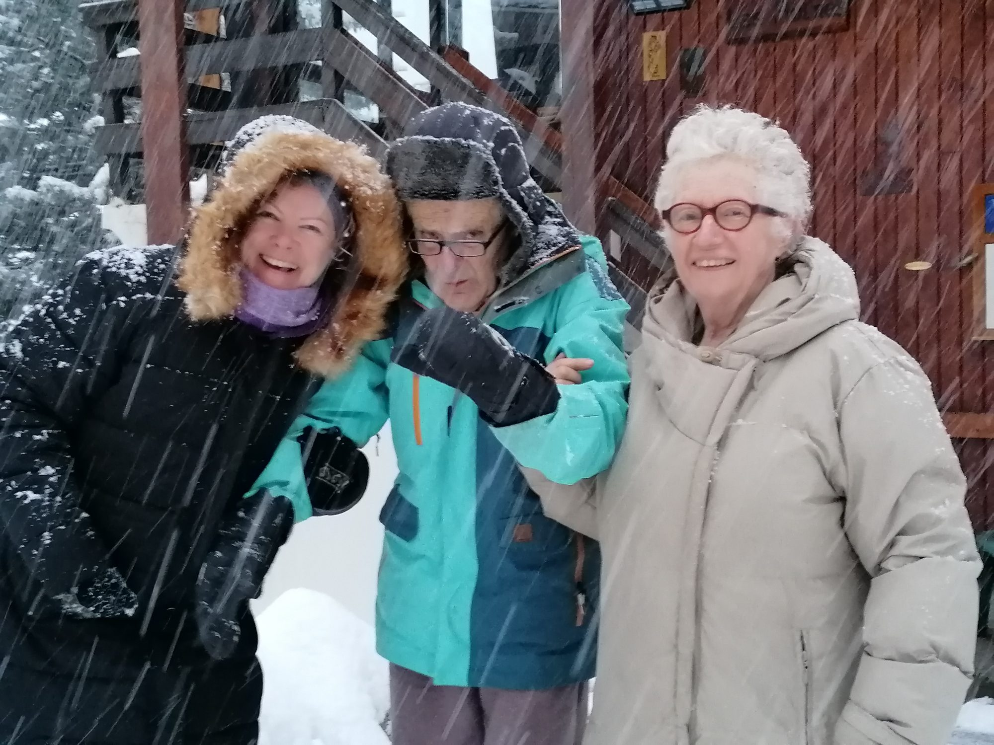 With Bruno and Odile in the snow