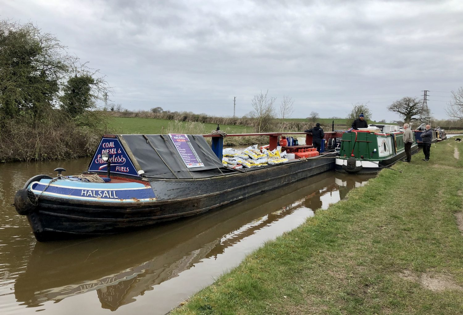Fuel Boat Halsall and NB Areandare