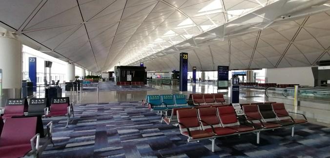 Hong Kong airport August 2020