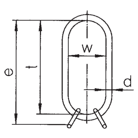 VLW Oversize Master Link Assembly Drawing