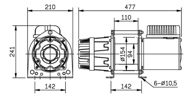 CWG30075 Winch Spec Drawing