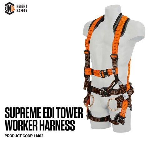 H402 Supreme Edi Tower Worker Harness - Standard on Dummy SIDE