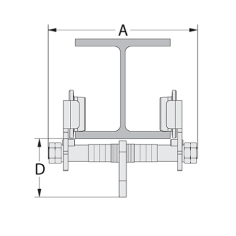Push Type Girder trolley Spec Drawing End