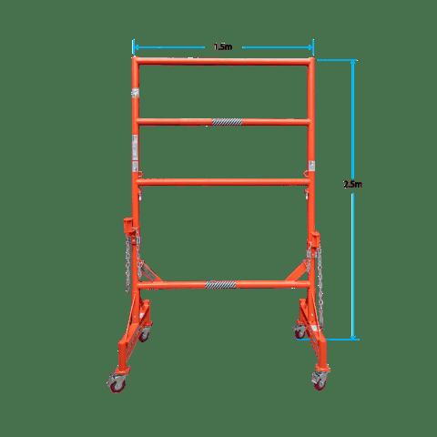LJM10115 1.5m x 2.5m Model with dimensions