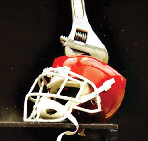 Crushed Helmet
