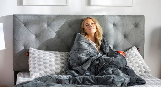 Stay warm with Layla Weighted  Blanket