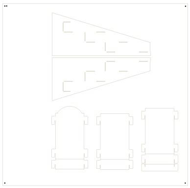 Comic Display Rack Die line design