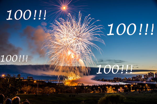 Edmonton Alberta Fireworks with 100!!!