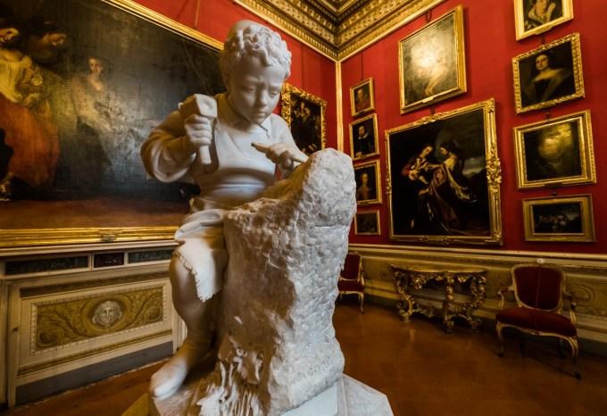 The Young Leonardo, Pitti Palace, Florence, Italy.