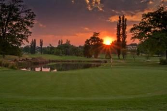 Sunset over the 16th hole on Royal Johannesburg & Kensington's East Course