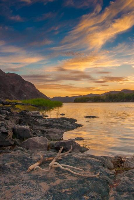 A beautiful Sunrise Over the Orange River