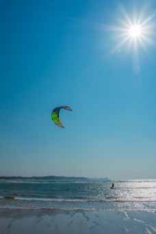 Kite Surfing in the Sunshine