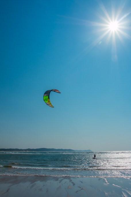 Kite Surfing in the Sunshine