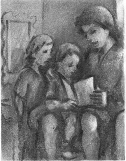 Children Reading by Barry Trower.