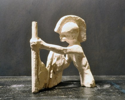 Warrior Fragment, Plaster of Paris by Barry Trower (1988).