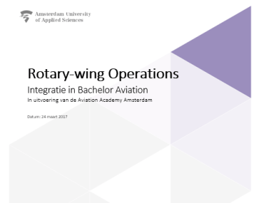 Integration of Rotary-wing education (Year 4; Graduation Research)