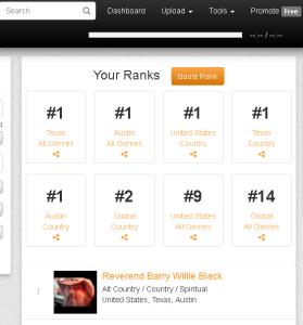 Number One Music Genre Rank Statistics.09.01.17
