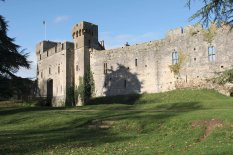 Caldicot Castle, just under 30 miles E of Cardiff, and near the English border