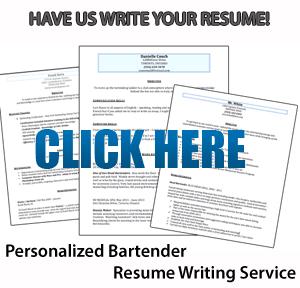 bartending resume writing service