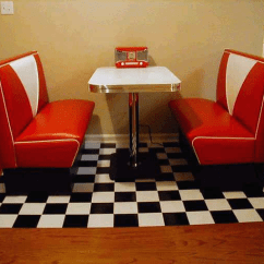 50's Kitchen Table And Chairs Flooring Annettes Diner Booth: Retro, Kitchen, Red White ...