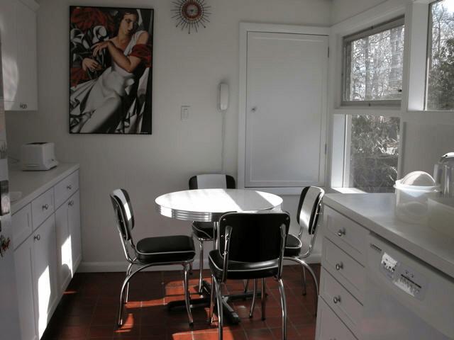 kitchen dinettes sharp knives dinette retro black and white chrome high quality bellas fw