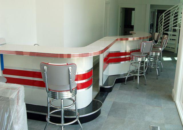 Custom Flip Up Counter Top Bar Home Bar Diner Counter
