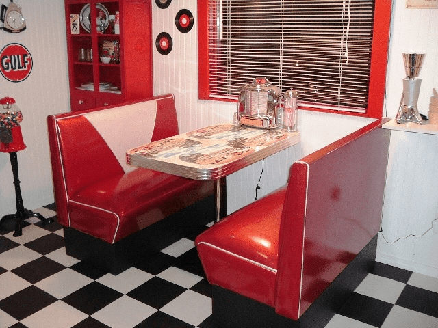 Dannys 50s Room Diner Booth Set Diner Booth Table