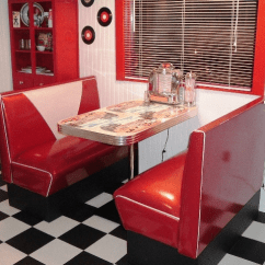 Retro Cafe Table And Chairs Bodybilt Stretch Ergonomic Chair (j2509 J3509) Danny's 50's Room: Diner Booth Set, Table, Retro, Vintage