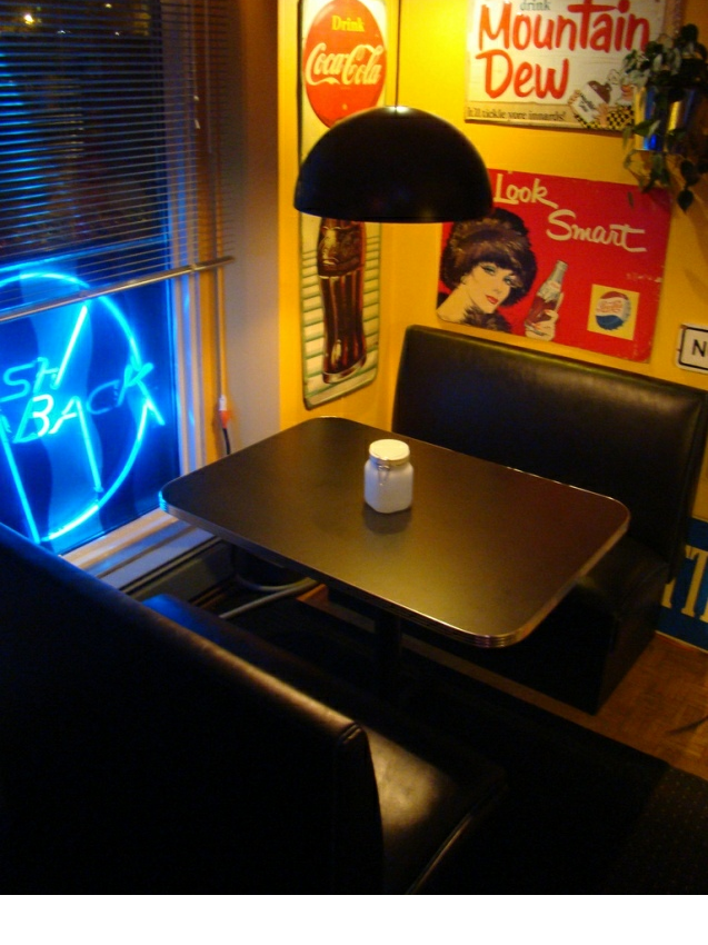 kitchen table sets with matching bar stools aluminum chairs darcy's flash back booth: home booth, black, neon, seating ...
