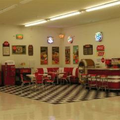 Kitchen Accessories Store Utility Knife Lewis Retro Garage: Bar, Diner Booths, Jukebox, Soda Machine