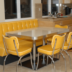 Retro Kitchen Tables Primal Booth Yellow Cracked Ice Chairs Table Home Seating Nicoles Fw