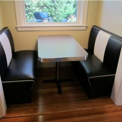 Custom Kitchen Booth Blinds For Windows Nook: Seating, Diner Booth, Retro Table