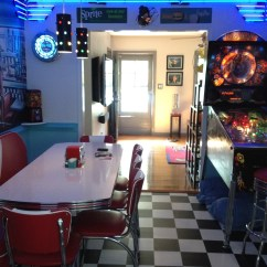 Kitchen Booth Table Commercial Flooring Epoxy Retro Ideas Diner Chairs Tables Home