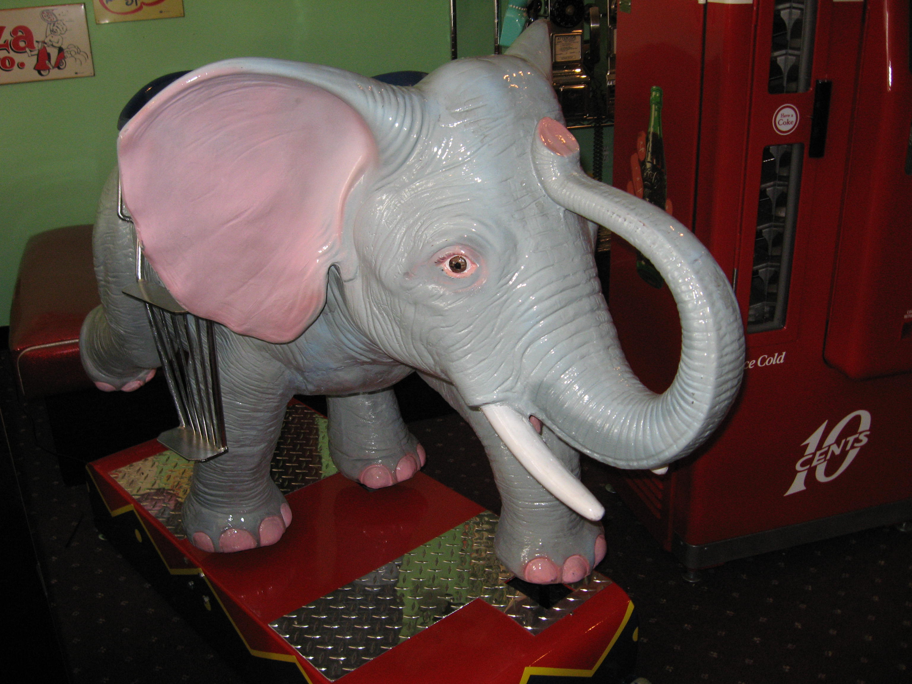50's kitchen table and chairs facets elephant kiddie ride: coin operated, restored, original ...