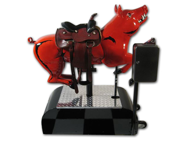 50's kitchen table and chairs ventilation system razorback pig ride: coin operated, original, restored, bbq ...