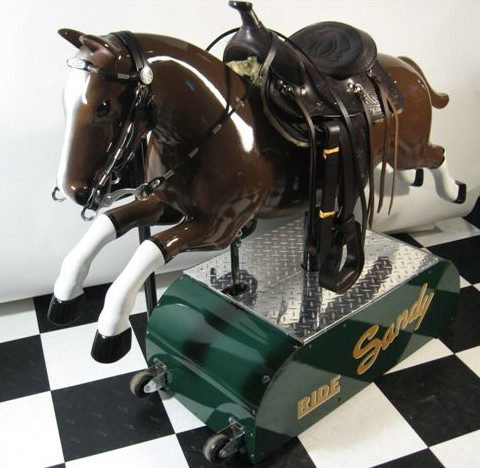 Restored Sandy Horse Kiddie Ride 1950s Coin Operated