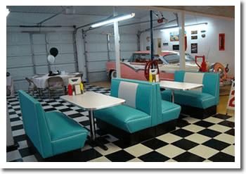 Retro Garage Bar Diner 1950s Diner Booths Bar Stools
