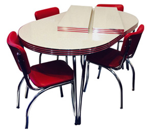 kitchen table and chair large dining pads retro dinettes sets room family leaf