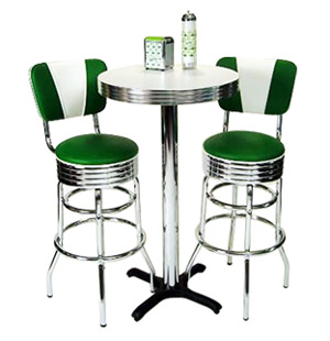 retro kitchen tables how to resurface cabinets dinettes table and chair sets dining room cafe seating pub
