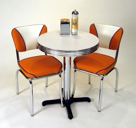 retro cafe dining chairs custom chair slipcovers seating restaurant home chrome diner table and fanta
