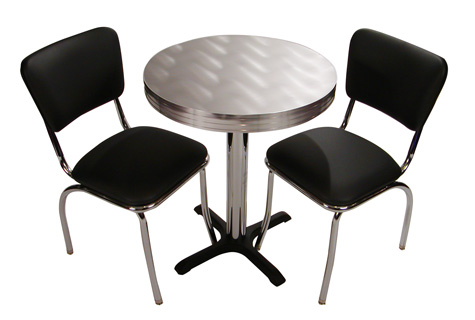 retro cafe table and chairs commercial gym roman chair seating restaurant home chrome diner