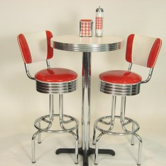 Retro Cafe Table And Chairs Chair Cushions With Ties Australia Pub Sets Bar Kitchen Restaurant Diner Usa