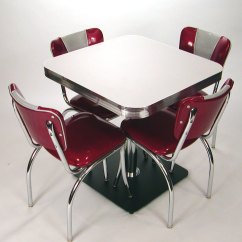 50's Kitchen Table And Chairs Step 2 Play Kitchens Square Tables: Retro Style, Boomerang, Cracked Ice ...
