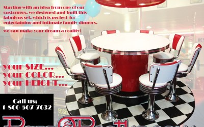 Exclusively at BarsandBooths.com – Custom Dinette Set